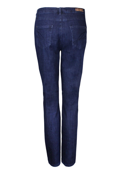 Embroidered Pocket Tummy Control Simon Chang Jeans, Blue, original