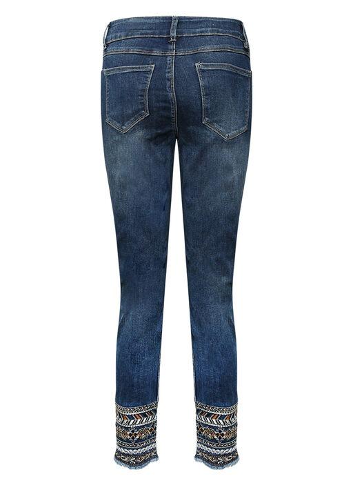 Evren Embellished Ankle Jean, Indigo, original