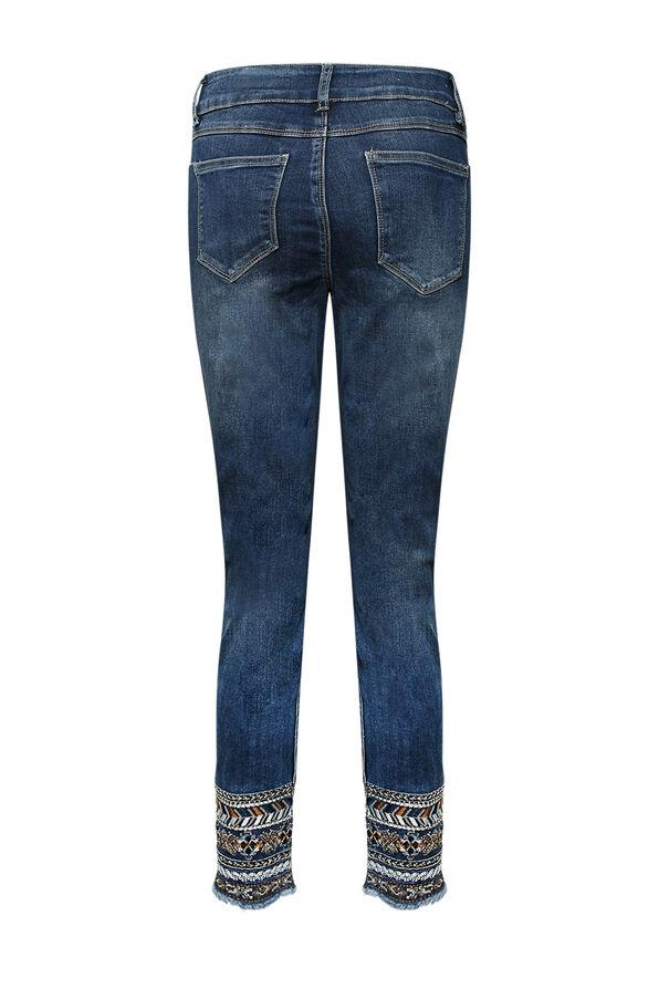 Evren Embellished Ankle Jean, Indigo, original image number 1