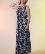 Sleeveless Maxi Dress with Gathered Waist, Black, original image number 0