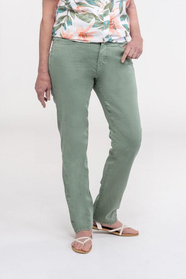 Green Audrey Denim Straight Leg, Green, original image number 0