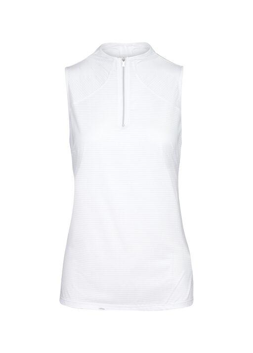 Mid Zip Sleeveless Polo Golf Shirt , , original