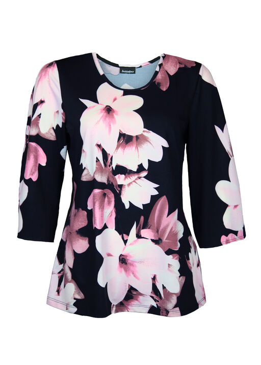 Print Top with 3/4 Sleeve, , original
