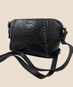 Snake Pattern Purse, Black, original image number 1