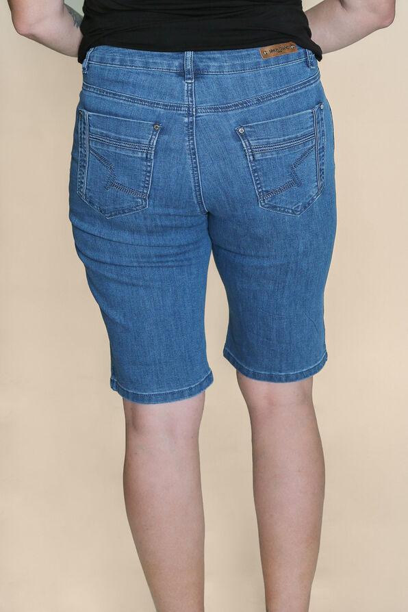 Embroidered Pocket Denim Shorts, Denim, original image number 1