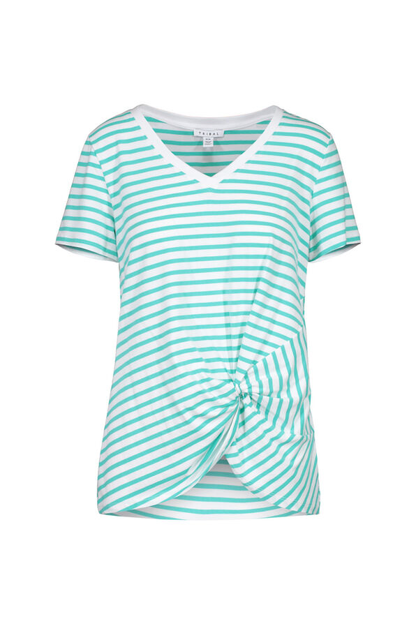 Knotted Striped Tee, , original image number 2