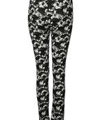 Flower Print Pant , Black, original image number 1