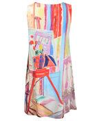 Sleeveless Tunic with Painting Print , Multi, original image number 1