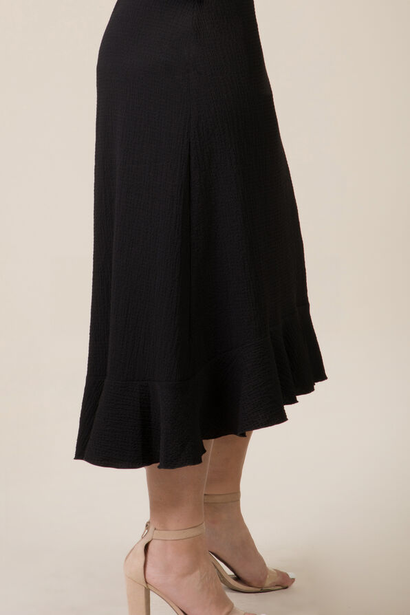 Ruffle Hi Lo Skirt, Black, original image number 1