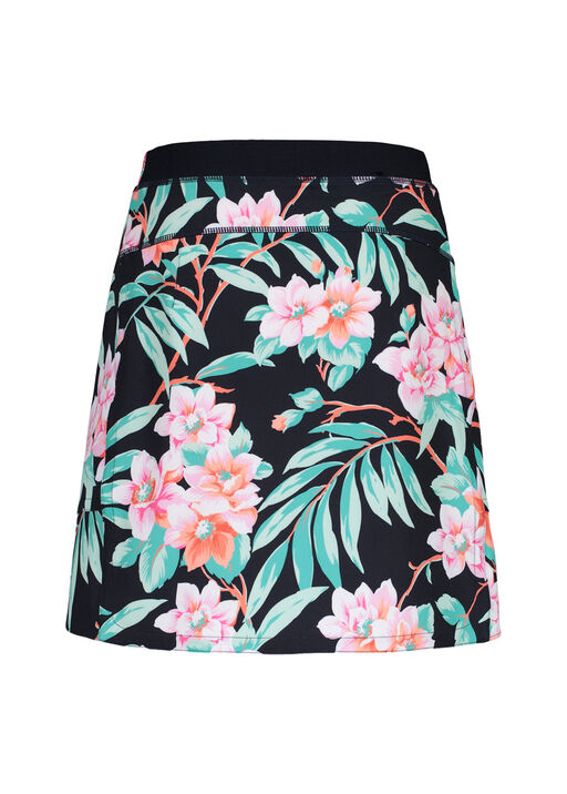 Floral Print Golf Skort with Pockets, Green, original