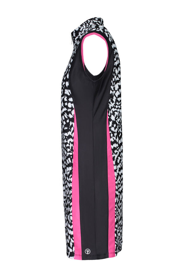 Printed Golf Dress, Black, original image number 2