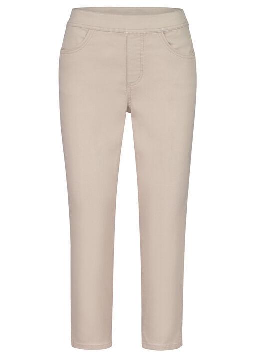 Pull-On Crop Stretch Pant, Beige, original