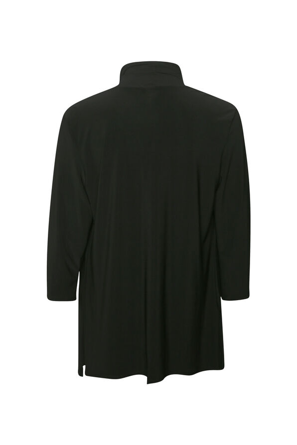 Cardigan with Stud Accents, Black, original image number 1