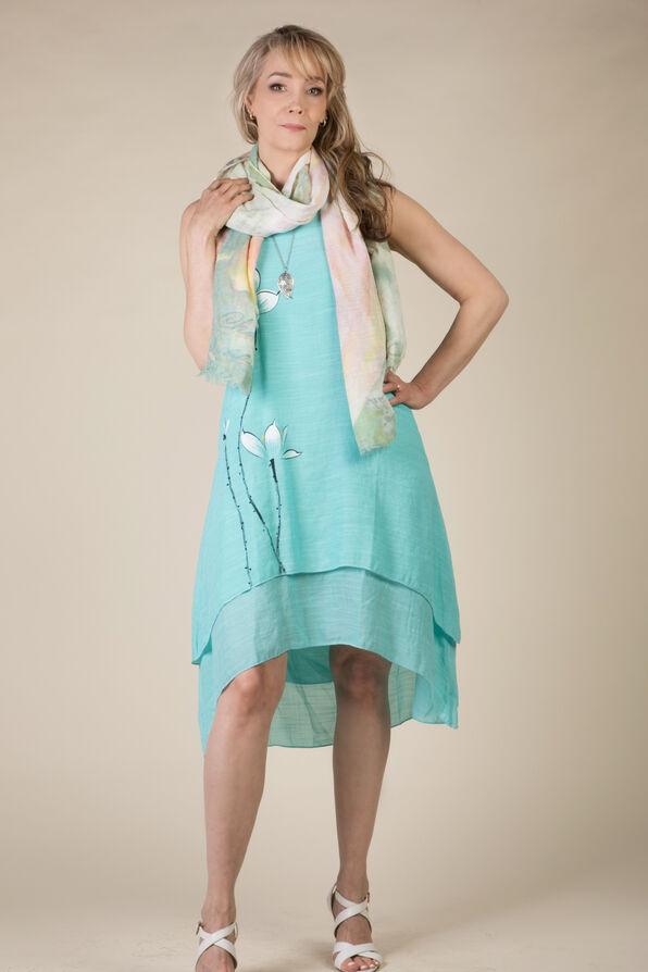 Brooke Hi Lo Dress, Aqua, original image number 1