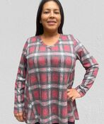 The Comfy and Flowy Lounge Tunic, Red, original image number 0