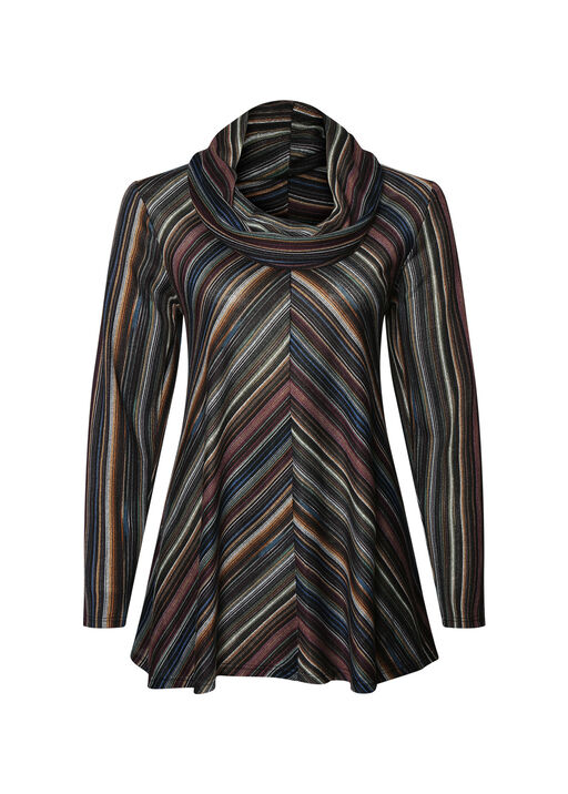Haven Striped Cowl Neck Top, , original