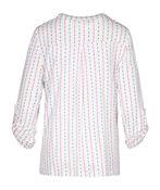 Polka Dot Henley Top With Roll Tab Sleeves, Sage, original image number 3