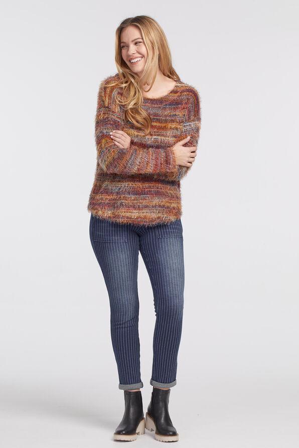 Space-Dye Eyelash Sweater, Rust, original image number 3