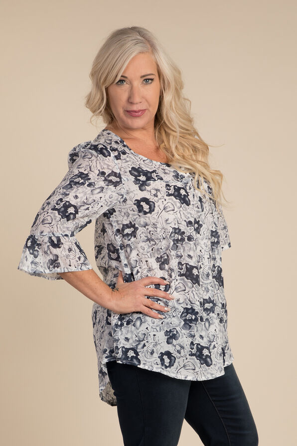 Garden Party Blouse, White, original image number 0