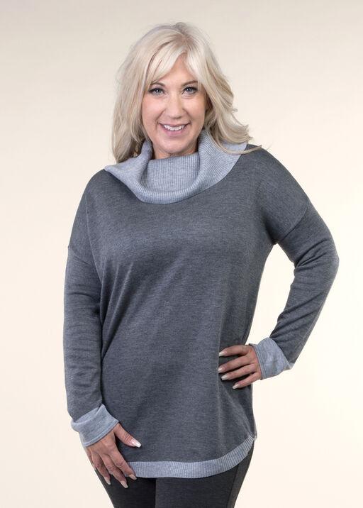 Cowl Neck Sweater, , original