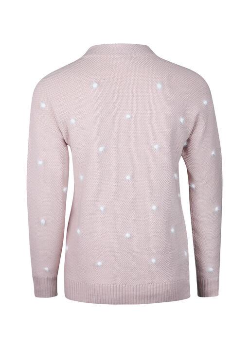 Eyelash Polka Dot Sweater, Pink, original