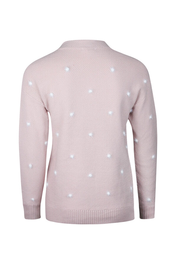 Eyelash Polka Dot Sweater, Pink, original image number 1