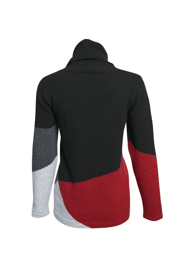 Talia Colour Block Sweater, Red, original image number 1