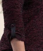Textured Top 3/4 Sleeves, Wine, original image number 3