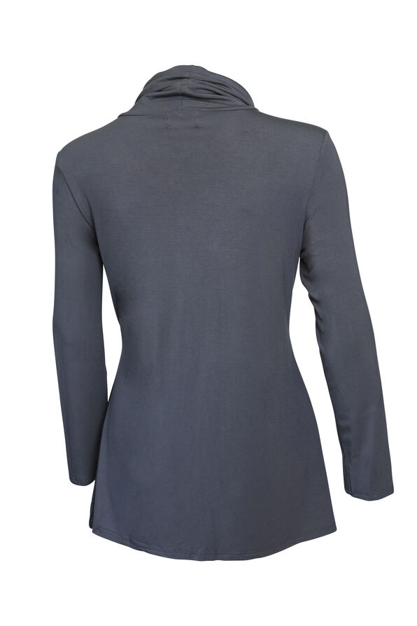 Westley Bamboo Cowl Neck Top, Grey, original image number 1
