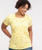 Lemon Print Cuffed T-Shirt, Yellow, original image number 0