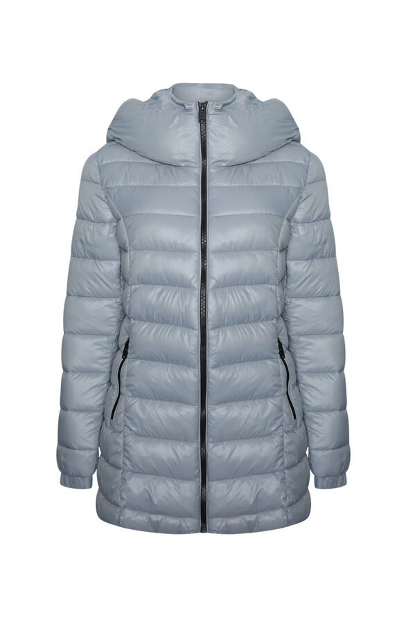 Long Mid Weight Puffer Coat , , original image number 4