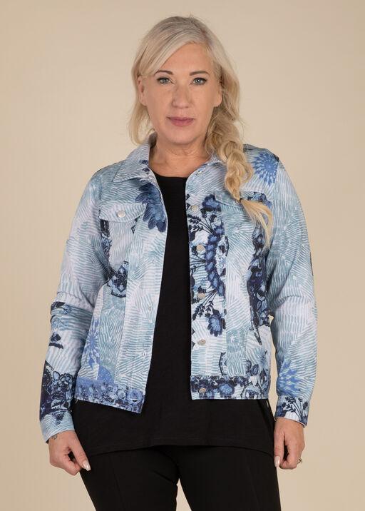 Selene Faux Denim Jacket, , original