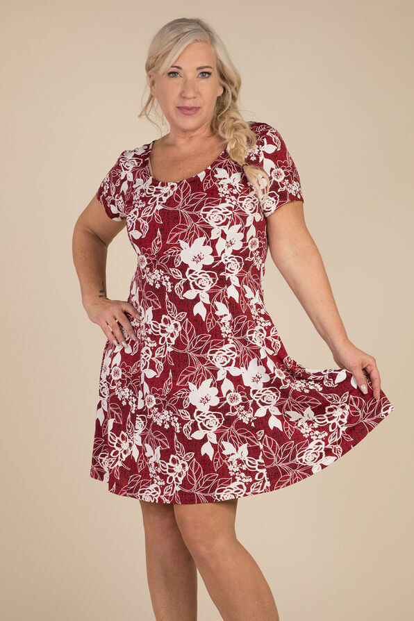 Rose Coloured Days Dress, Red, original image number 2