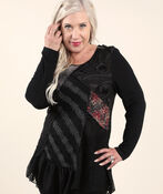 Novelty Tunic, Black, original image number 0