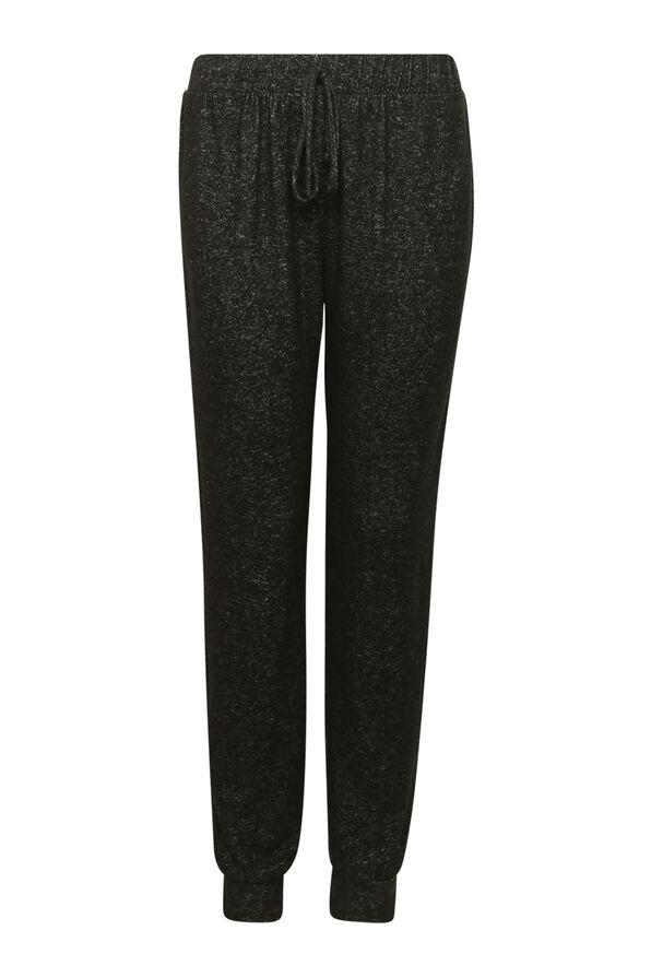 Butter Fleece Jogging Pants, Black, original image number 0