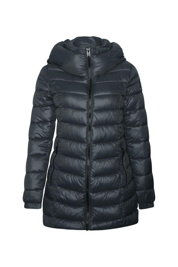 Long Mid Weight Puffer Coat , , original image number 3