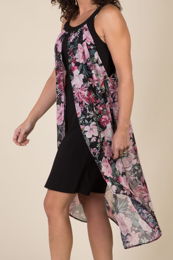 Arielle Hi-Lo Dress, Black, original image number 1