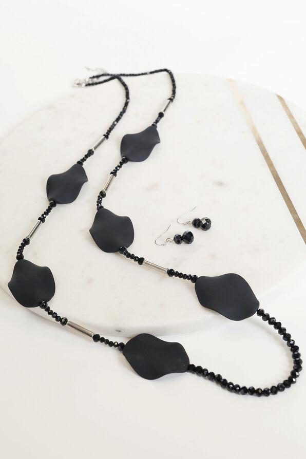 Jasmine Necklace Set, Silver, original image number 1