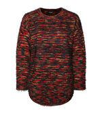 Rainbow Yarn Eyelash Sweater, Multi, original image number 0
