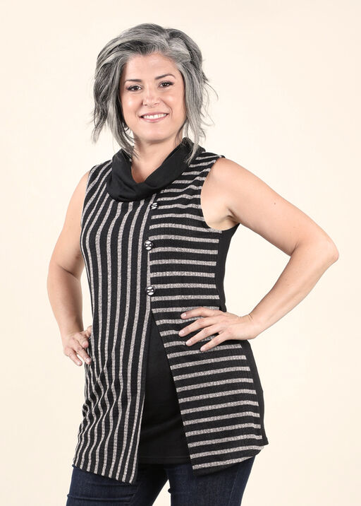 Classic Styling with this Sleeveless Tunic, , original