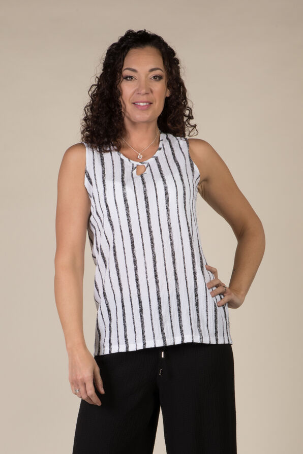 Michelle Sleeveless Top, White, original image number 0