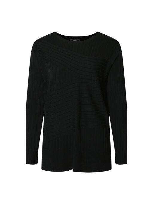 Ribbed Sweater with Side Slits, , original