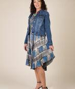 Novah Sleeveless Dress, Grey, original image number 4