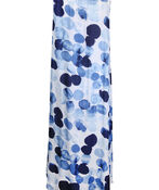 Sleeveless Layered Midi Dress with Pintuck, Blue, original image number 1