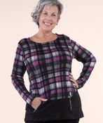 Tunic Top with Zip Pockets, , original image number 0