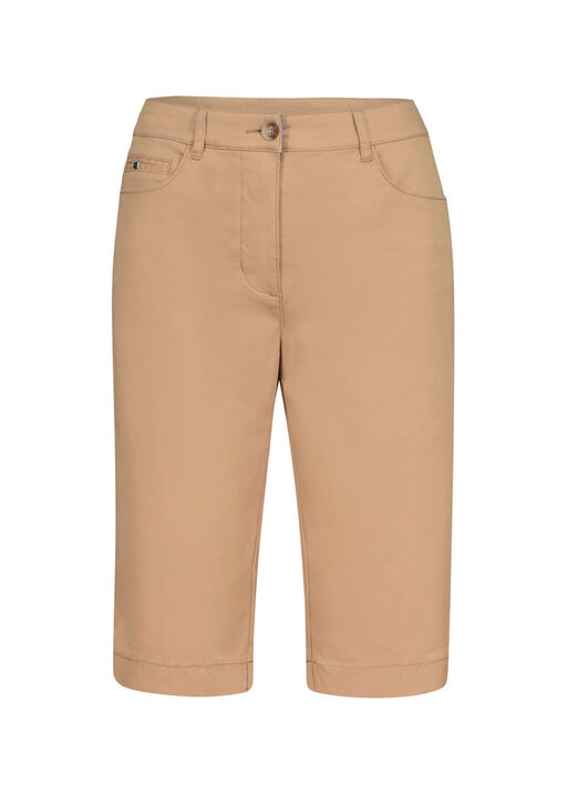 Tribal Trouser Style Bermuda Short, Tan, original
