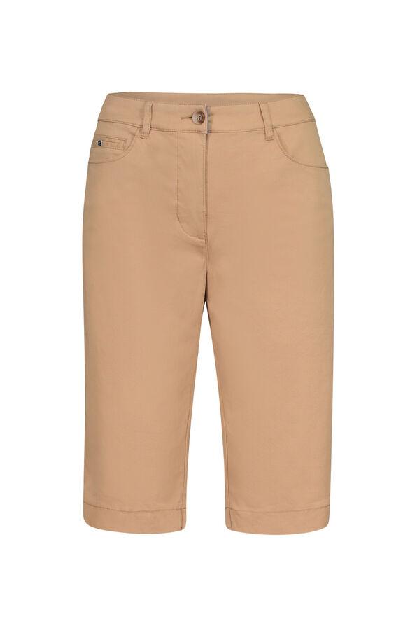 Tribal Trouser Style Bermuda Short, Tan, original image number 0