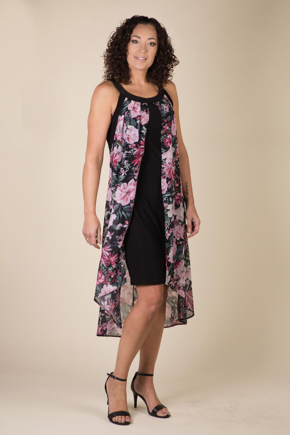Arielle Hi-Lo Dress, Black, original image number 0