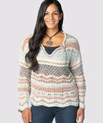 Boho-Chic Bell Sweater, Blue, original image number 1