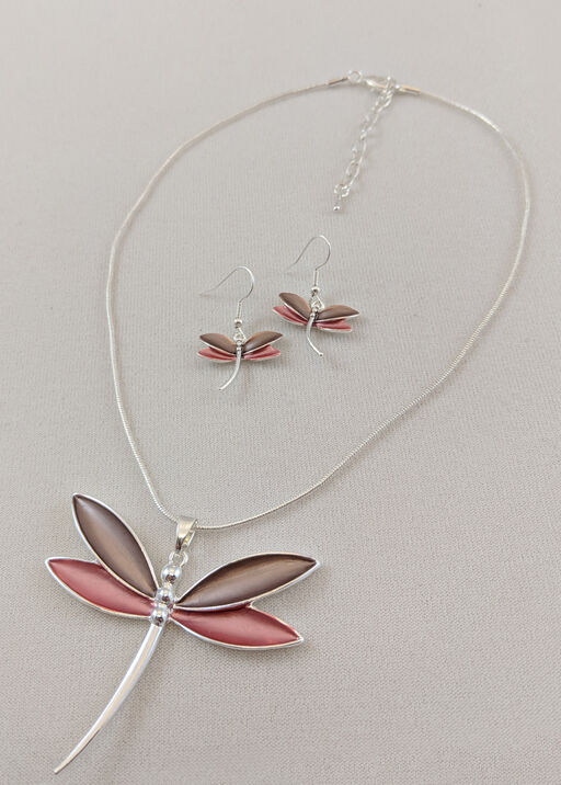 Serene Dragonfly Necklace and Earrings Set, , original